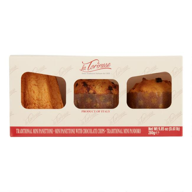 La Torinese Mini Panettone And Pandoro 3 Pack