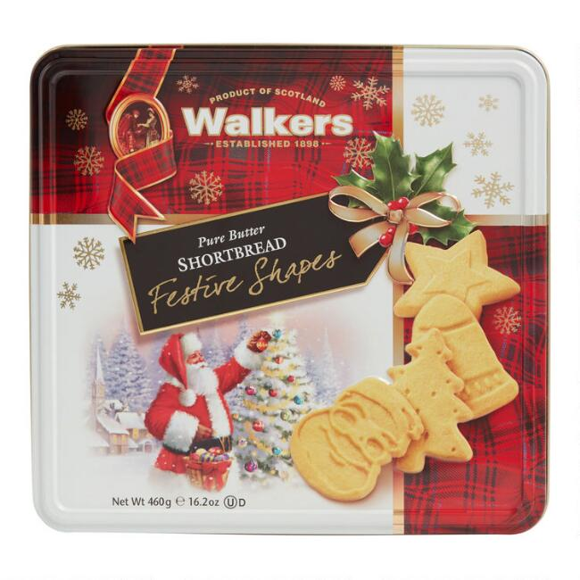 Walkers Festive Shapes Shortbread Cookie Tin