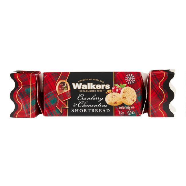 Walkers Cranberry And Clementine Shortbread Holiday Cracker