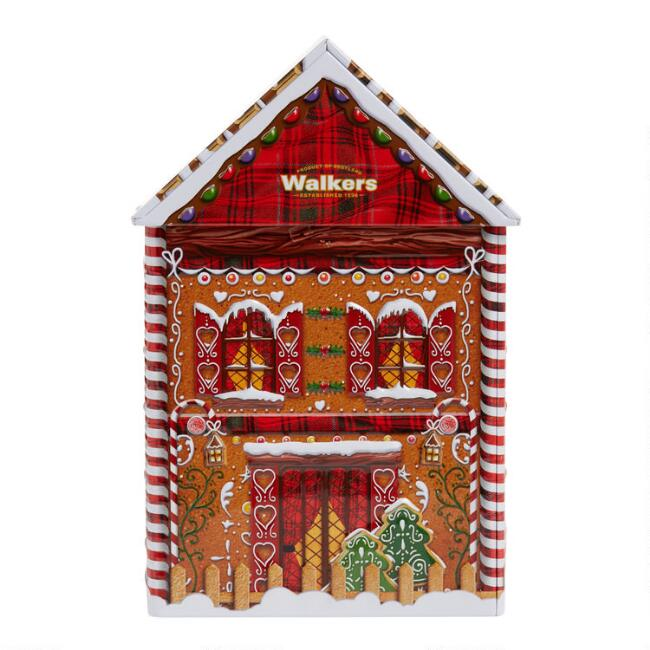 Walkers Gingerbread House Shortbread Cookie Tin