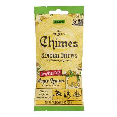 Chimes Meyer Lemon Ginger Chewy Candy Snack Size Set of 12