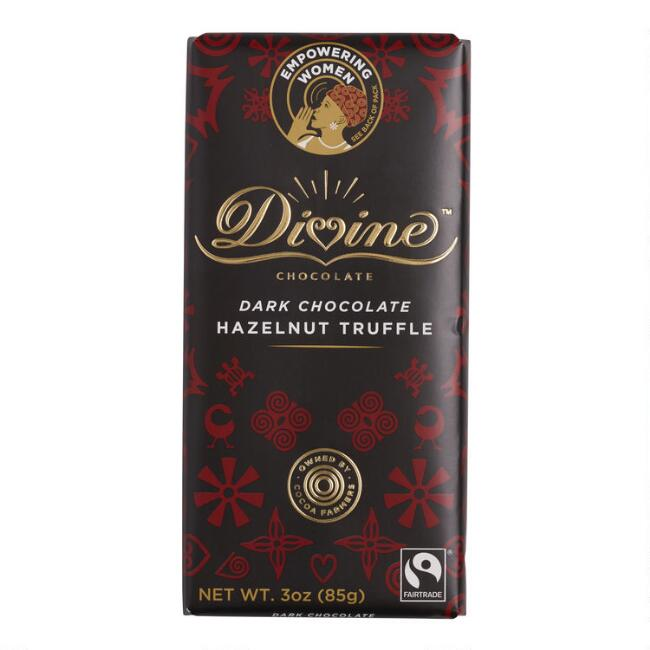 Divine Hazelnut Truffle 41% Dark Chocolate Bar
