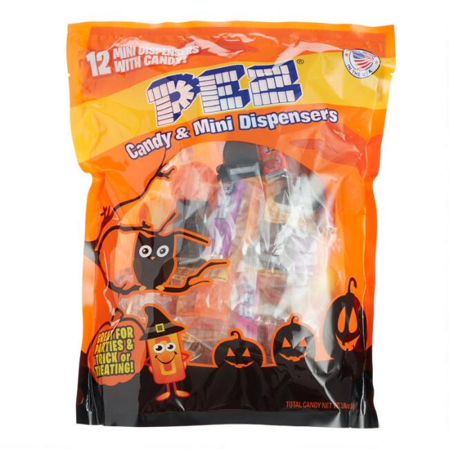 Pez Mini Halloween Dispensers and Candy 12 Pack
