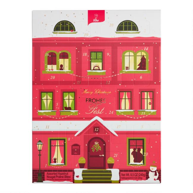 Viba Nougat Red House Advent Calendar