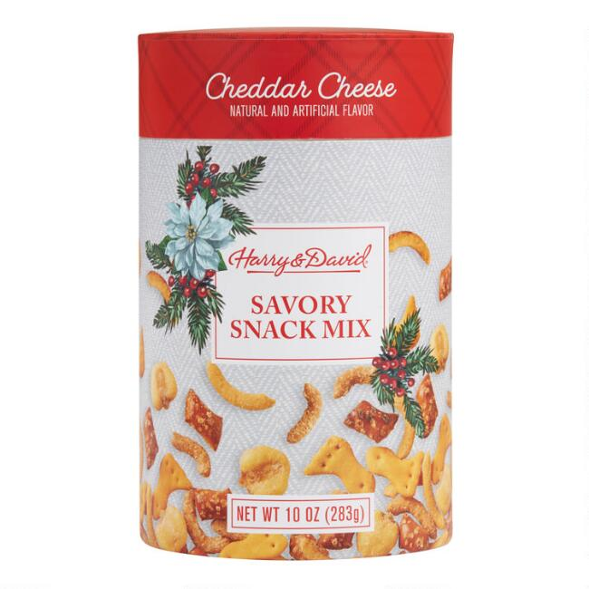 Harry & David Cheddar Cheese Savory Snack Mix Tin