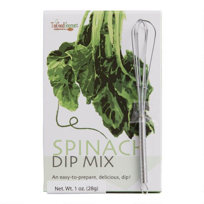 Too Good Gourmet Spinach Dip Mix with Mini Whisk