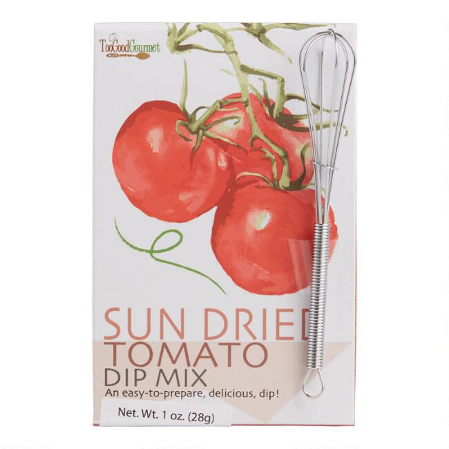 Too Good Gourmet Sun Dried Tomato Dip Mix with Mini Whisk