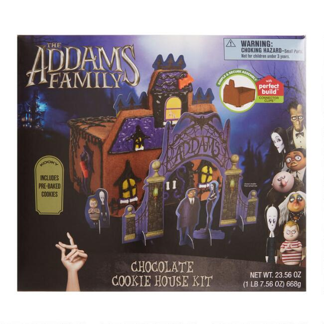 Animated Addams Family Chocolate Cookie House Kit