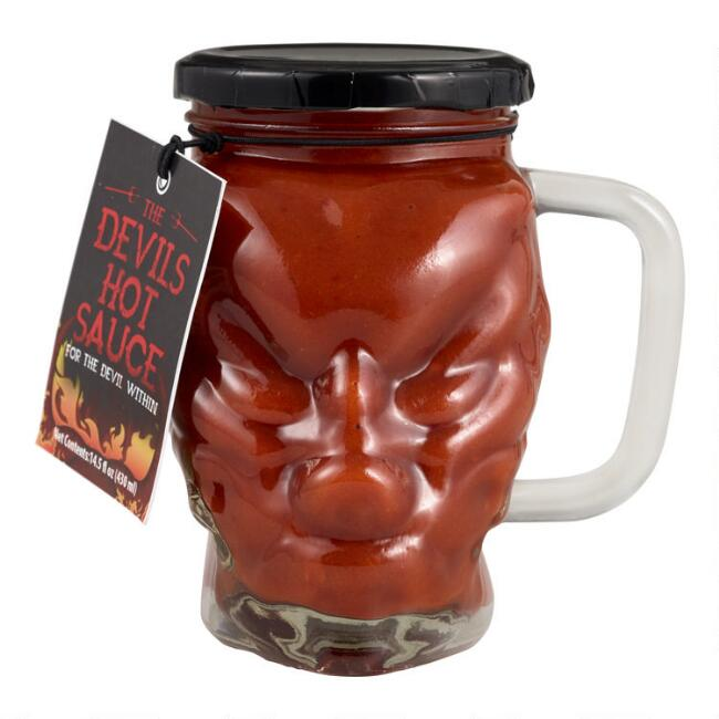 The Devils Hot Sauce Jar with Handle