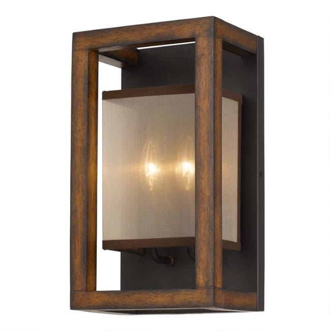 Rectangular Wood Sierra Wall Sconce