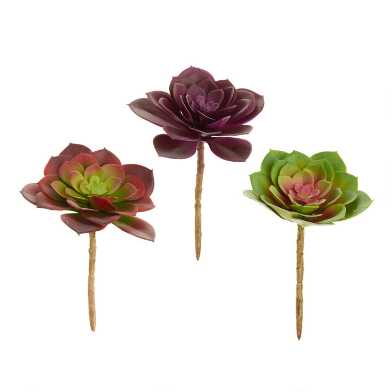 Faux Fall Echeveria Picks Set of 3