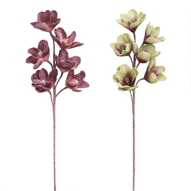 Large Faux Orchid Stems Set of 2
