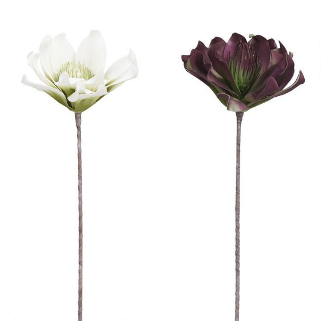 Large Faux Magnolia Stems Set Of 2 by World Market