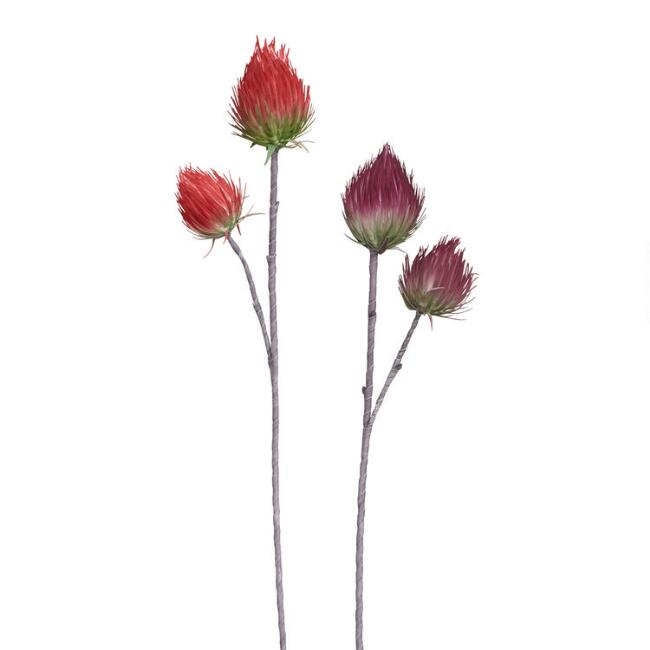 Large Faux Thistle Sprays Set of 2