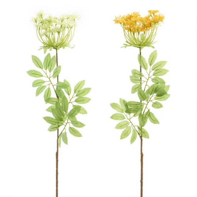 Large Faux Queen Anne's Lace Spray Set of 2