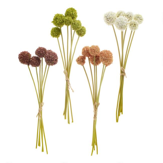 Mini Faux Fall Allium Bundles Set of 4
