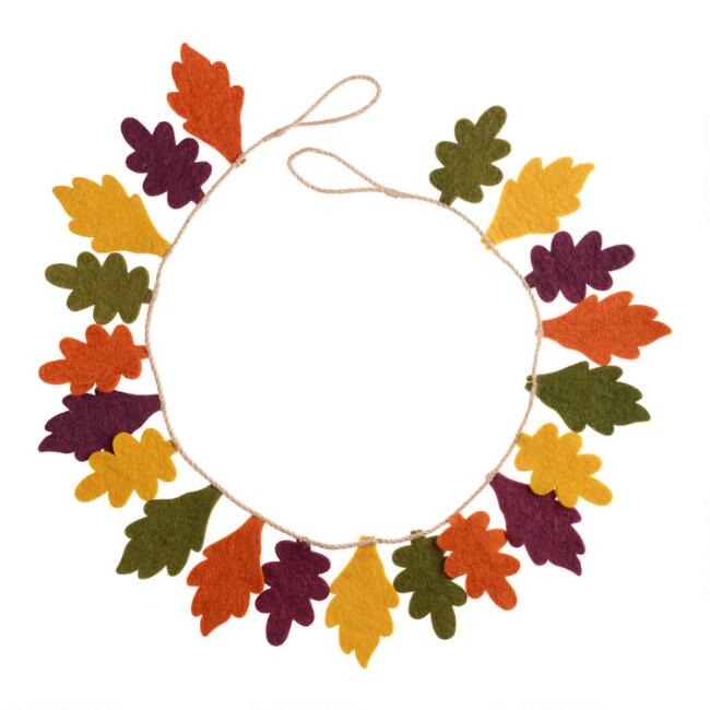 Felted Wool Fall Leaves Garland