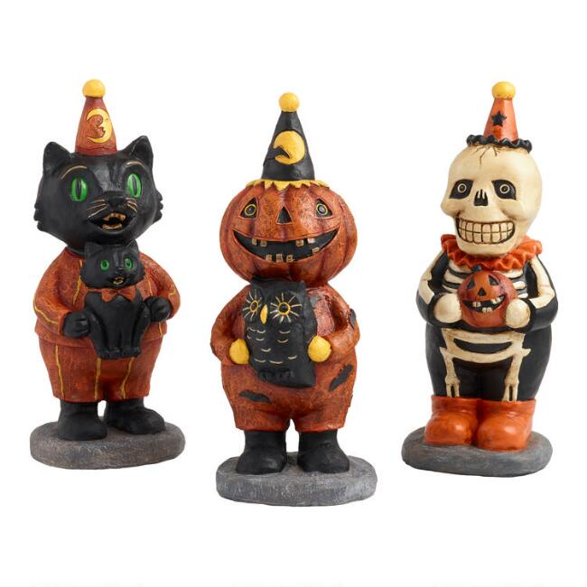 Vintage Halloween Tabletop Figures Set of 3