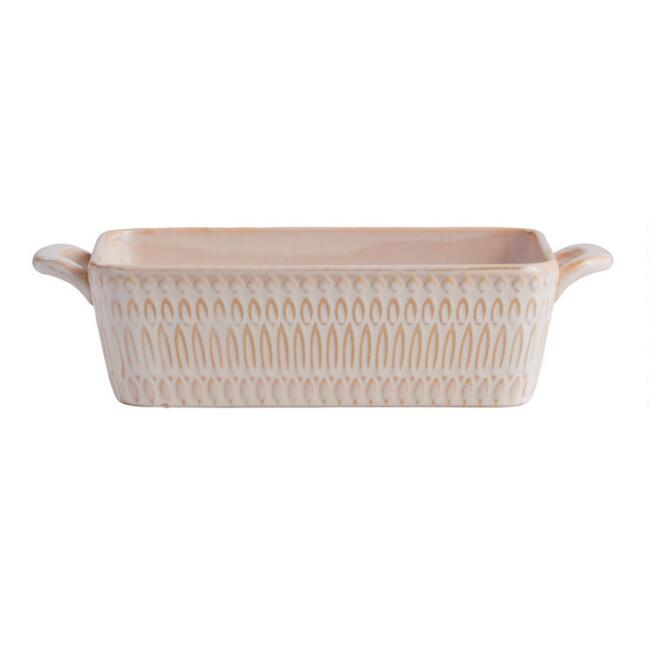 Textured Ceramic Loaf Pan