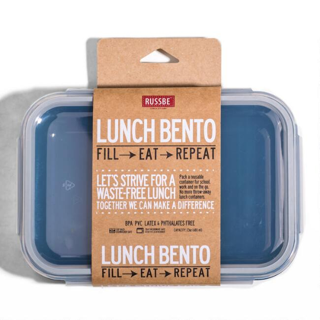 Russbe Small Navy Inner Seal Bento Lunch Box