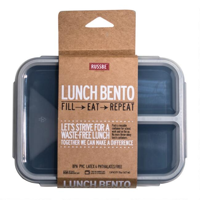 Russbe Large Navy Inner Seal Bento Lunch Box