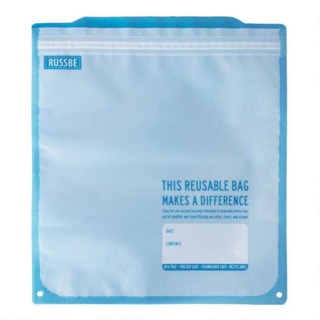 Russbe Reusable Freezer Gallon Bags 8 Pack