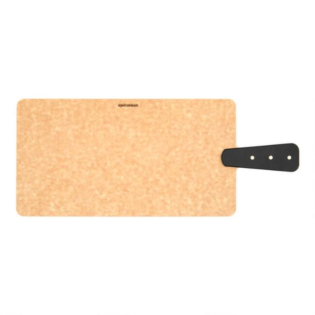 Epicurean Riveted Handle Handy Paddle Cutting Board