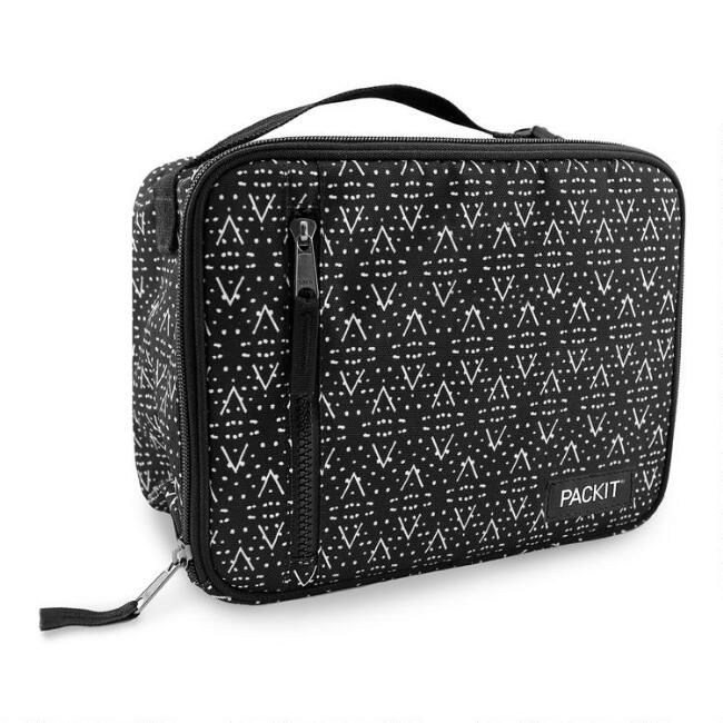 PackIt Black and White Desert Plains Freezable Lunch Box