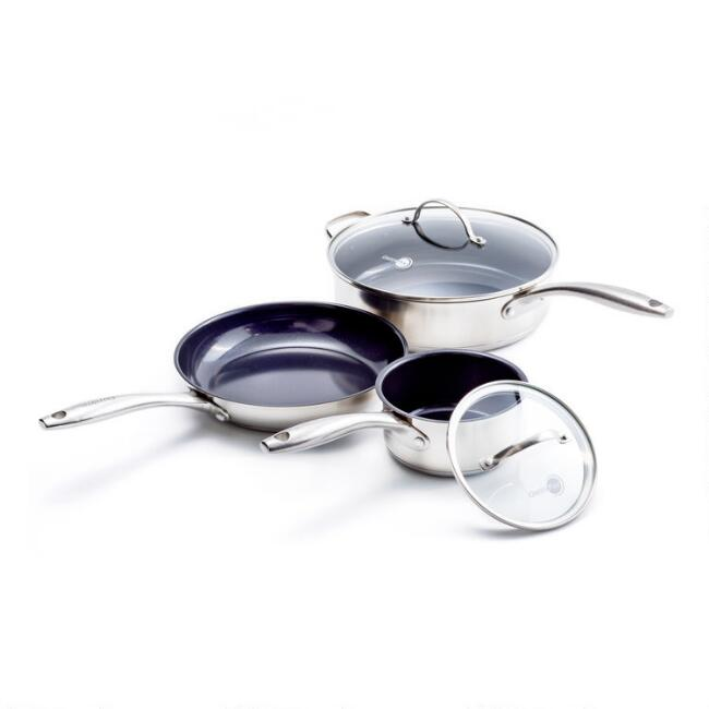 GreenPan Marina 5 Piece Nonstick Ceramic Cookware Set