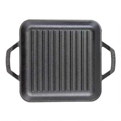 11 Inch Square Lodge Chef Collection Cast Iron Grill Pan