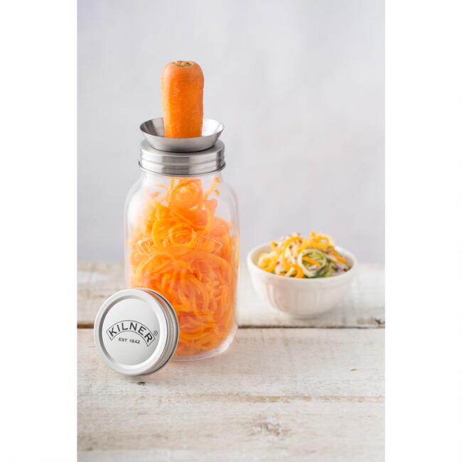 Kilner Glass Jar And Spiralizer Set