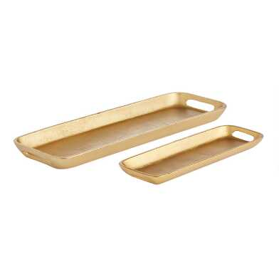 Gold Metal Decorative Tray