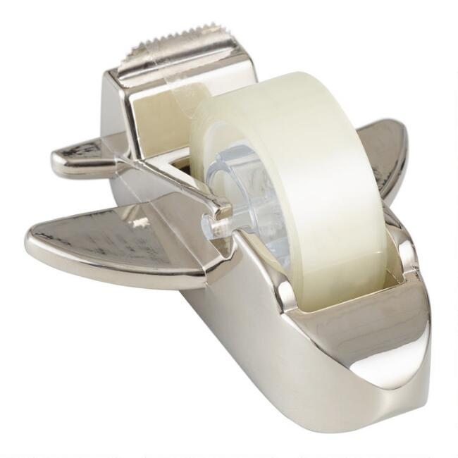 Silver Airplane Tape Dispenser