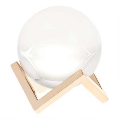 Glass Orb Decor on Gold Stand