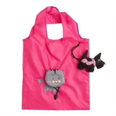 Dog and Cat Foldable Tote Bags Set of 2