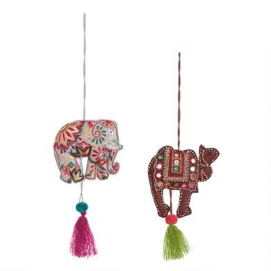 Embroidered Animal Door Hanger Decor Set of 2