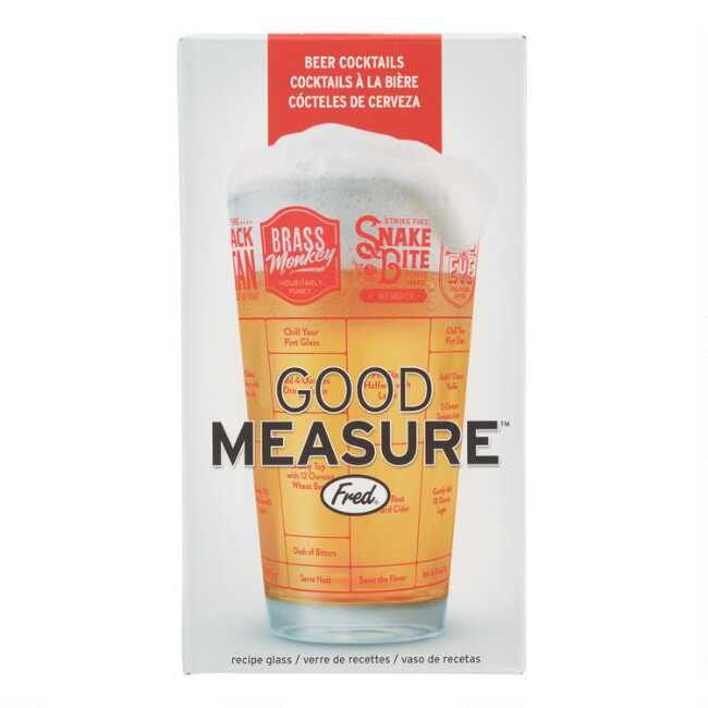 Fred Friends Good Measure Beer Tail Recipe Gl