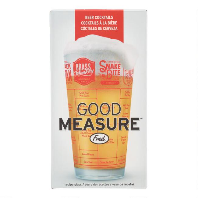 Fred & Friends Good Measure Beer Cocktail Recipe Glass