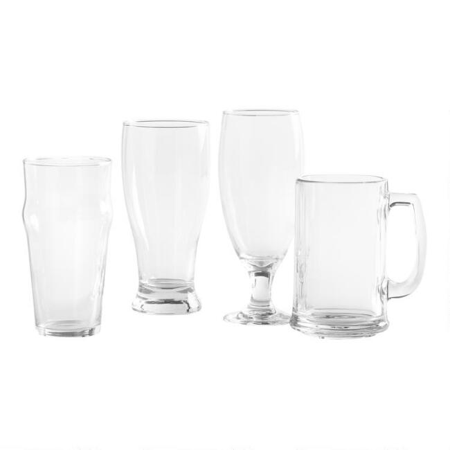 Craft Brew Beer Glasses 4 Piece Set