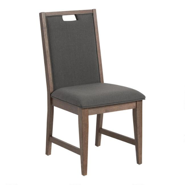Swell Distressed Wood Hailey Upholstered Dining Chairs Set Of 2 Gmtry Best Dining Table And Chair Ideas Images Gmtryco