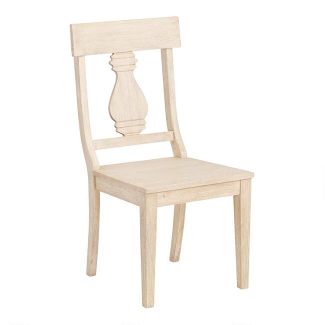 Blonde Wood Arcadia Dining Chairs Set of 2