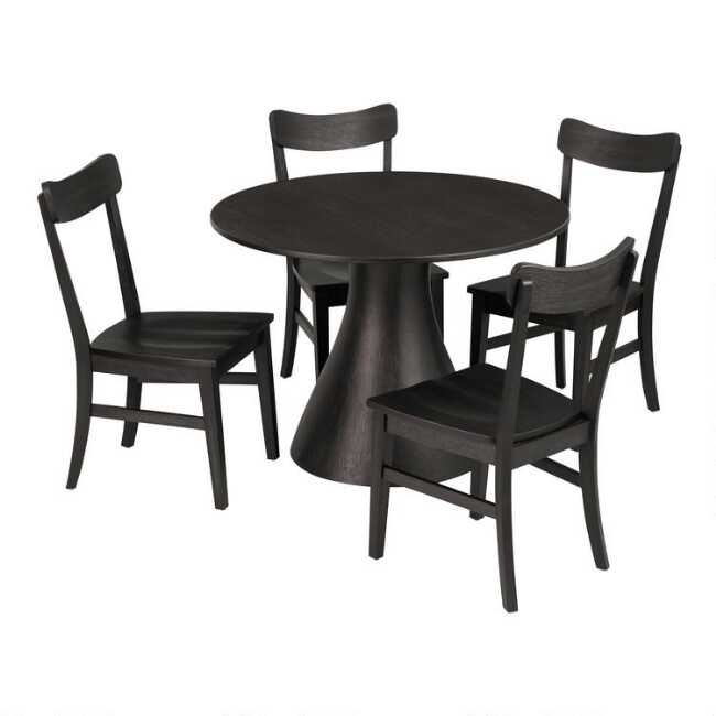 Fantastic Black Wood Keanu Dining Collection Download Free Architecture Designs Rallybritishbridgeorg