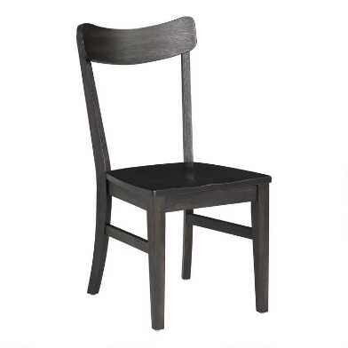 Black Wood Keanu Dining Chairs Set of 2