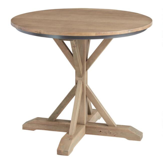 Round Light Walnut Bistro Counter Height Dining Table
