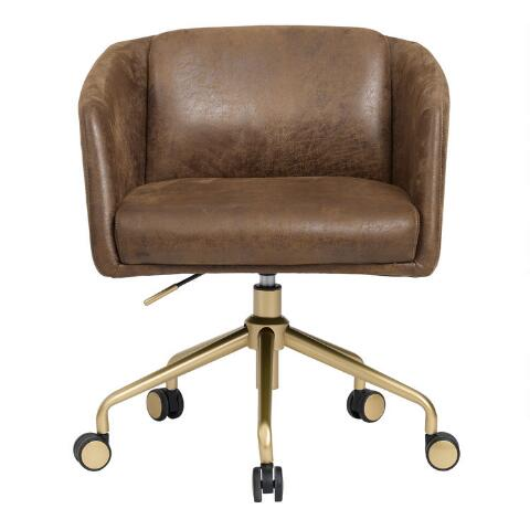 Incredible Brown Faux Suede Brenden Upholstered Office Chair Cjindustries Chair Design For Home Cjindustriesco