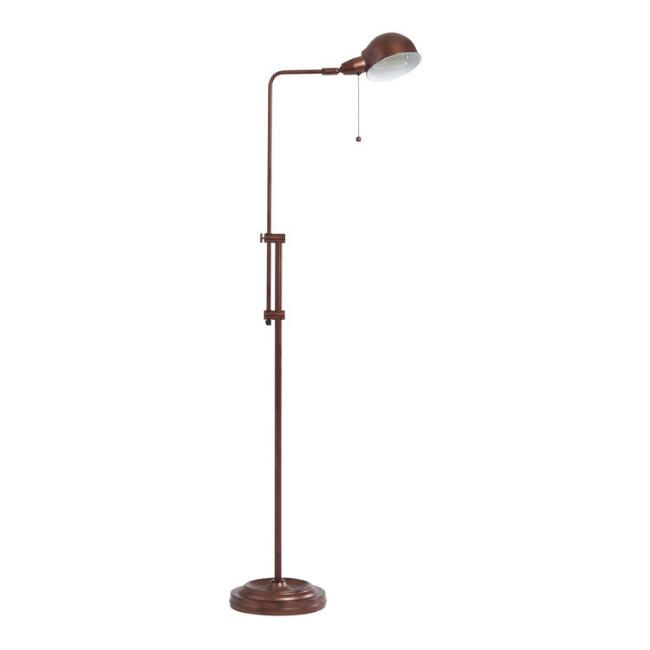 Rust Adjustable Crosby Pharmacy Floor Lamp