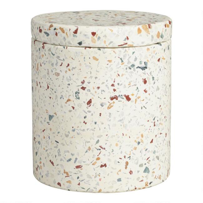Terrazzo Lidded Storage Canister