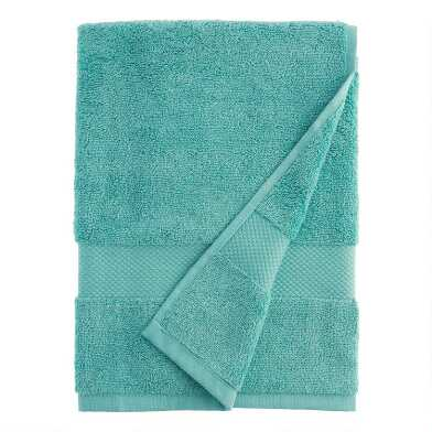 Aquamarine Cotton Bath Towel