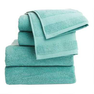 Aquamarine Cotton Towel Collection
