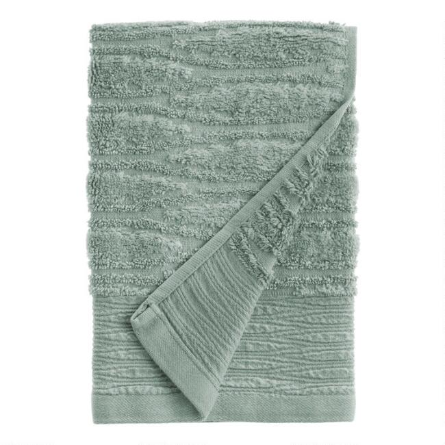 Jadeite Sunfaded Sculpted Bella Hand Towel